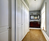 Light grey hallway in old house Royalty Free Stock Photography