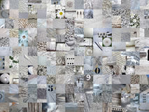 LIGHT GREY patchwork photomontage background Stock Image