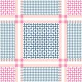 Light grey and pink keffiyeh pattern. Royalty Free Stock Photos