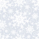 Light grey seamless pattern with snowflakes Stock Images
