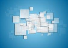 Light grey squares on blue background Stock Image