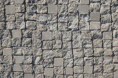 Light grey stone pavement background texture Royalty Free Stock Image