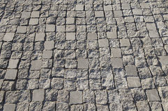 Light grey stone pavement background texture Stock Image