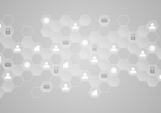 Light grey tech communication abstract background Royalty Free Stock Images