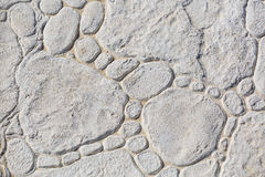 Light grey textured detailed stone landscaping flo Royalty Free Stock Photography