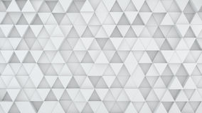 Light grey triangles extruded background 3D render. Light grey triangles chaotic extruded. Abstract geometric background. 3D render illustration Stock Photo