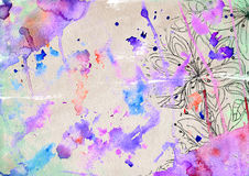 Light grunge background. Bright watercolor background with a splash in the grunge style Stock Photography