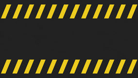 Light grunge black and yellow caution sign background. Stock Photo
