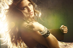 Light through  hair Stock Photo