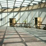 Light hall. In the office building Royalty Free Stock Image
