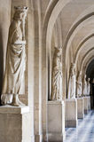 Light hall with ancient statues Stock Image