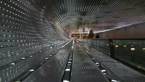 Light hall escalator stock video