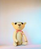 Light handmade teddy bear Stock Photo