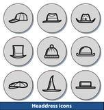 Light headdress icons Royalty Free Stock Photography