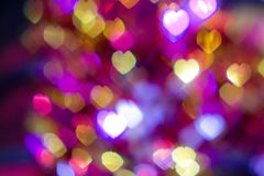 Light Heart Bokeh background.  Royalty Free Stock Photo