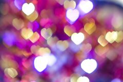 Light Heart Bokeh background.  Royalty Free Stock Photography
