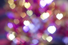 Light Heart Bokeh background.  Stock Image