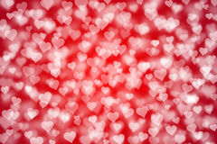 Light hearts bokeh as background Royalty Free Stock Photo