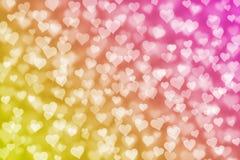 Light hearts bokeh as background stock illustration