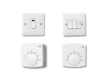 Light and heating controls. Royalty Free Stock Photo