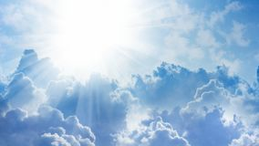 Light from heaven. 16x9 widescreen aspect ratio background - light from heaven. Sun and clouds Stock Images
