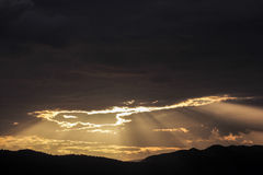 Light from heaven sky. With mountain Royalty Free Stock Photography