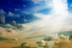 Light from heaven window. Bright light from sky heaven window Royalty Free Stock Photos