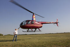 Light helicopter Stock Images
