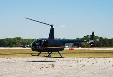 Light helicopter departing Royalty Free Stock Photos