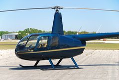 Light helicopter on the ground Stock Photos