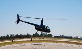 Light helicopter taking off Royalty Free Stock Photography