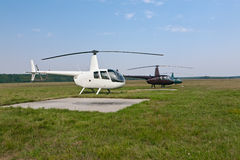 Light helicopters Royalty Free Stock Images
