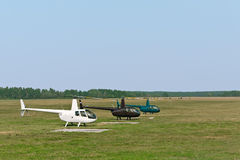 Light helicopters Stock Photo