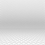 Light hexagon perspective background. Texture of hexagons arranged in perspective on the wall and the floor Royalty Free Stock Images