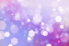 Light hexagons bokeh. Royalty Free Stock Images