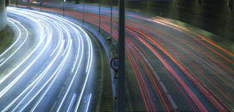 Light trails on the highway  Royalty Free Stock Images
