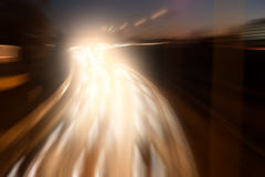Light on highway Royalty Free Stock Image