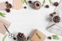 Light holiday background with gift boxes Royalty Free Stock Photos