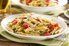 Light Homemade Pesto Pasta Royalty Free Stock Image