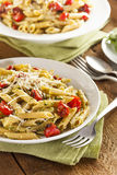 Light Homemade Pesto Pasta Stock Image