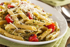 Light Homemade Pesto Pasta Royalty Free Stock Images