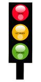 The light of honor. A vertical traffic light bar with red,light and yellow colors Royalty Free Stock Images
