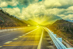 The light of hope on the highway Stock Images