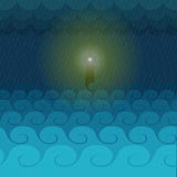 The light of hope. From the lighthouse Vector Illustration