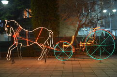 Light horse carriage. Picture  of a Light horse shape Royalty Free Stock Photos