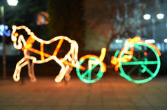Light horse carriage shape. Picture  of a Light horse shape Stock Photography