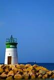 Light House. Photo of a light house at Aqaba Shore Stock Photos