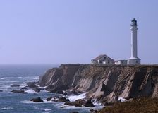 Light House. At Point Arena, California Royalty Free Stock Image