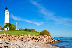 Lighthouse on Langeland, Denmark Royalty Free Stock Images