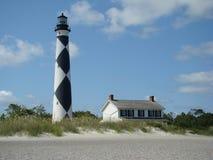 Light House. On deserted isle in North Carolina Stock Photo